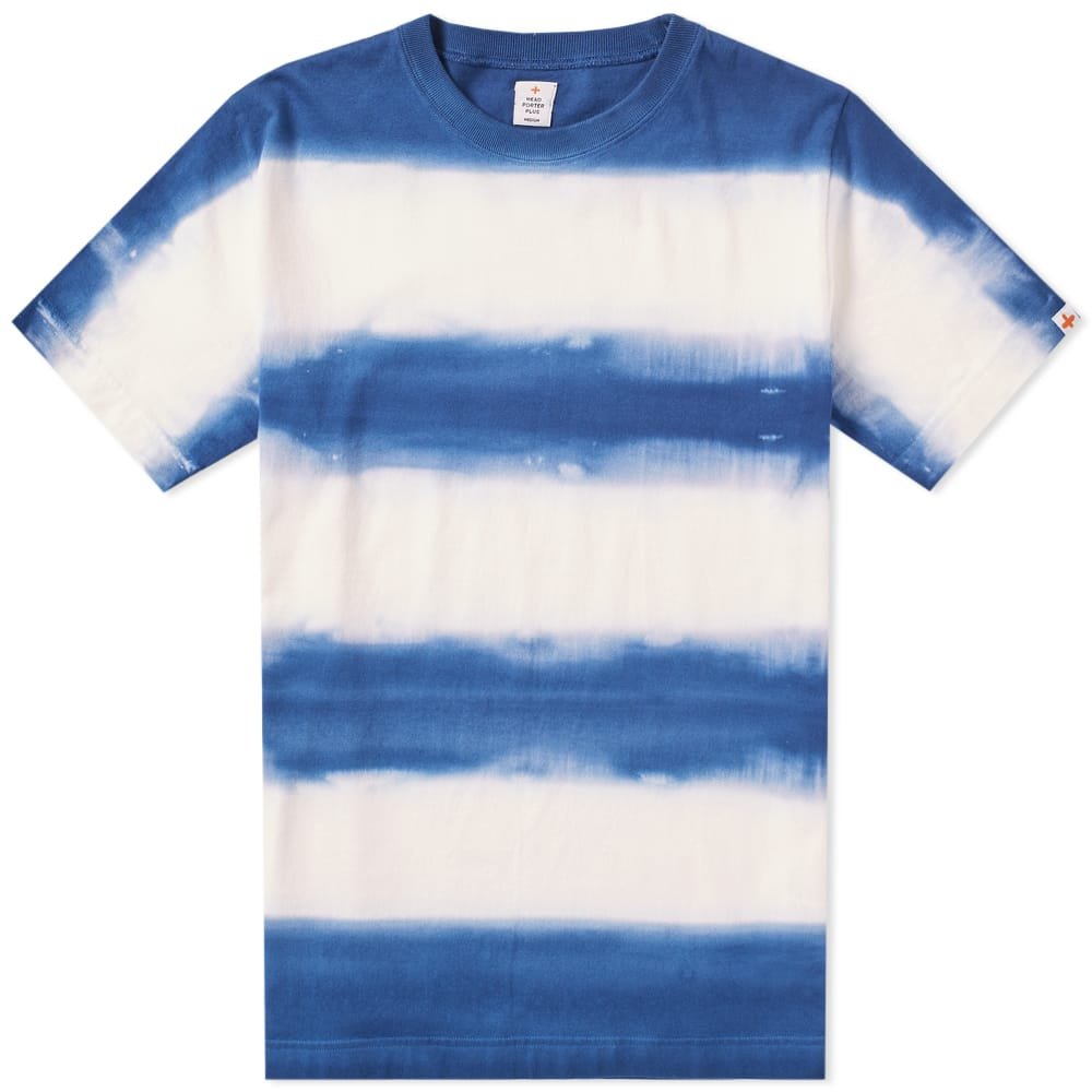 Photo: Head Porter Plus Tie Dye Border Tee Blue