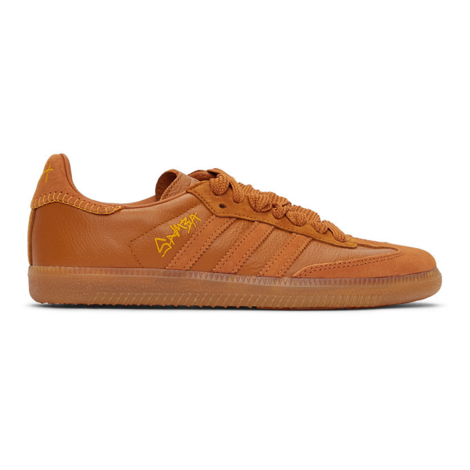 adidas Originals Brown Jonah Hill Edition Samba Sneakers