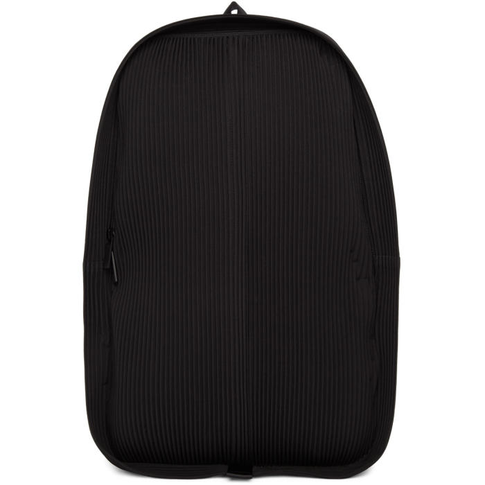 Homme Plissé Issey Miyake Black Pleats Daypack Backpack Homme ... a28b7be60623c