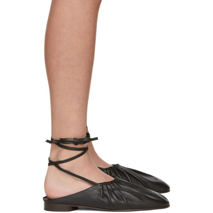 3.1 Phillip Lim Black Nadia Lace-Up Ballet Flats
