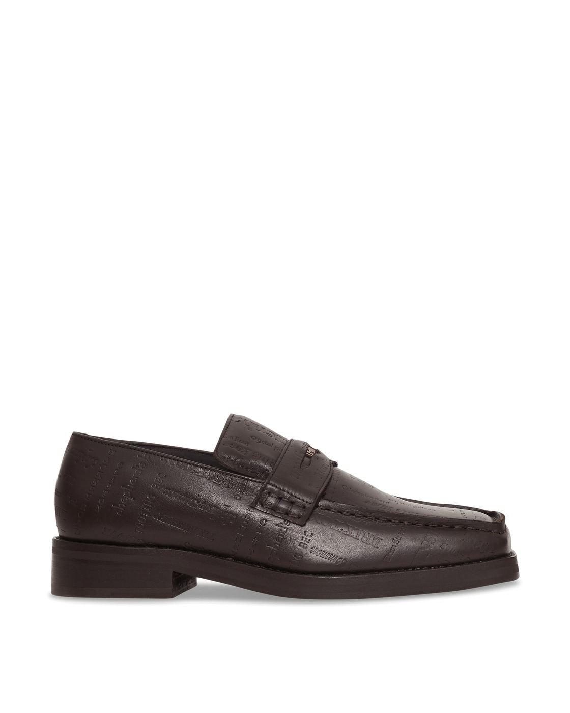 Martine Rose Roxy Embossed Leather Loafers Brown/Brown