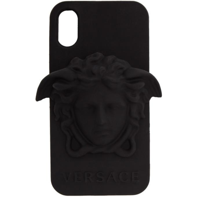 913a1fa954d Versace Black 3D Medusa iPhone X Case Versace