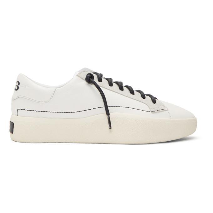 Y-3 White Tangutsu Lace Sneakers Y-3