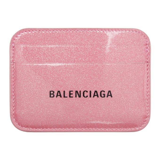 Photo: Balenciaga Pink Glitter Everyday Card Holder