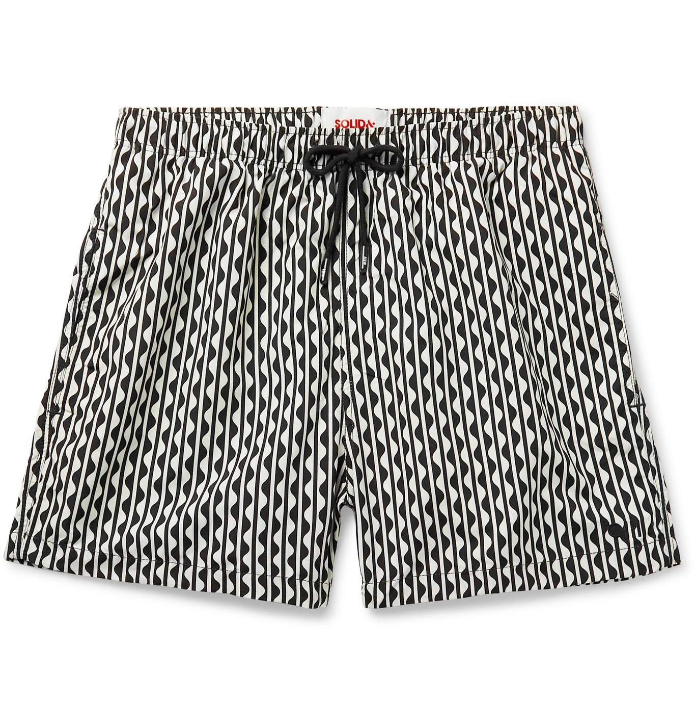 Photo: Solid & Striped - The California Long-Length Printed Swim Shorts - Neutrals