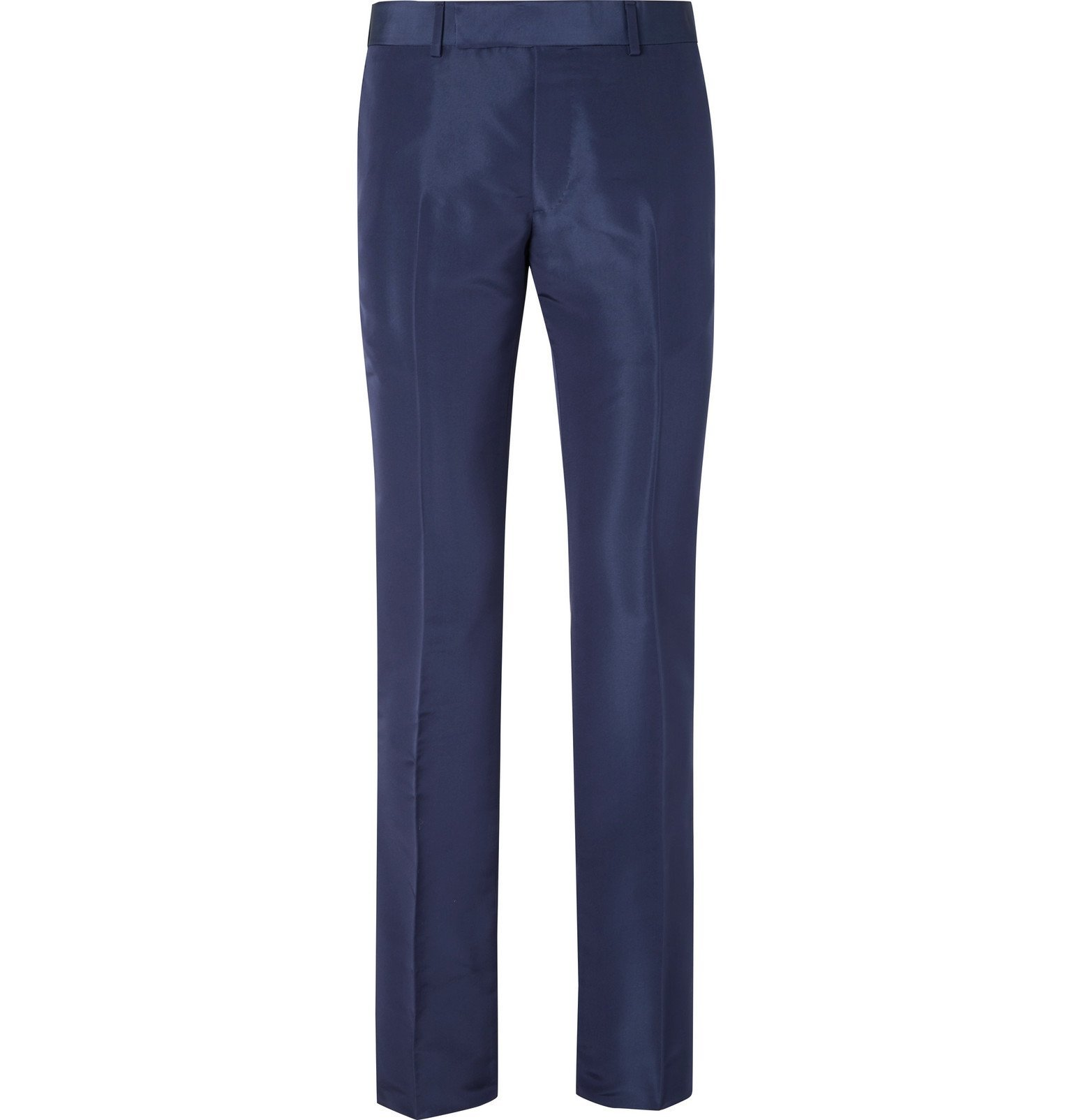Dunhill - Navy Slim-Fit Mulberry Silk Suit Trousers - Blue
