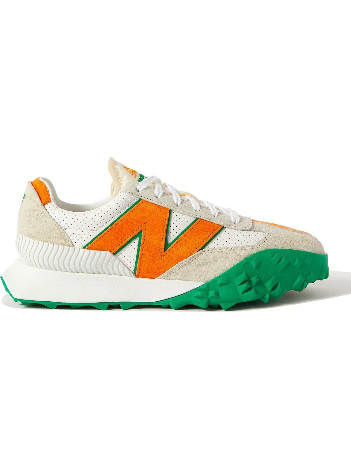 Photo: New Balance - Casablanca XC72 Suede-Trimmed Leather Sneakers - Orange