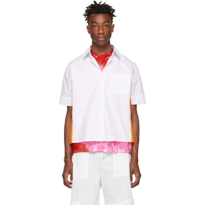 Photo: Wales Bonner White and Orange Pocket Short Sleeve Shirt