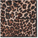 TOM FORD - Leopard-Print Silk-Twill Pocket Square - Brown