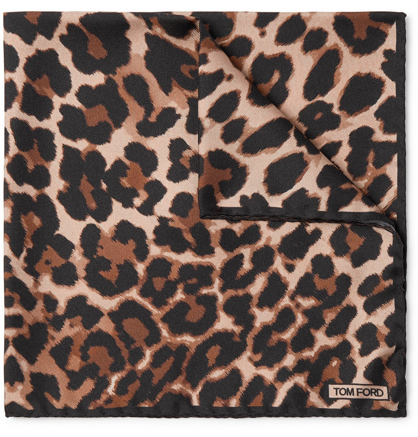 Photo: TOM FORD - Leopard-Print Silk-Twill Pocket Square - Brown