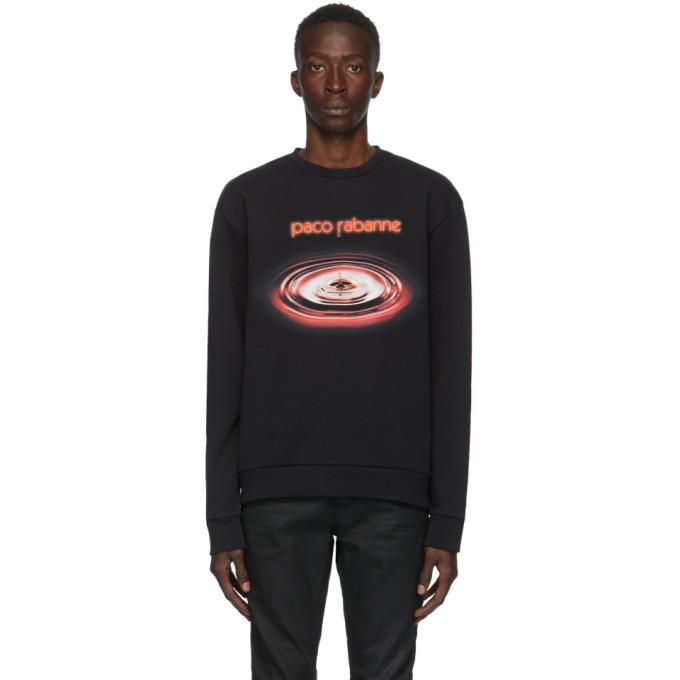 Photo: Paco Rabanne Black Drip Logo Sweatshirt