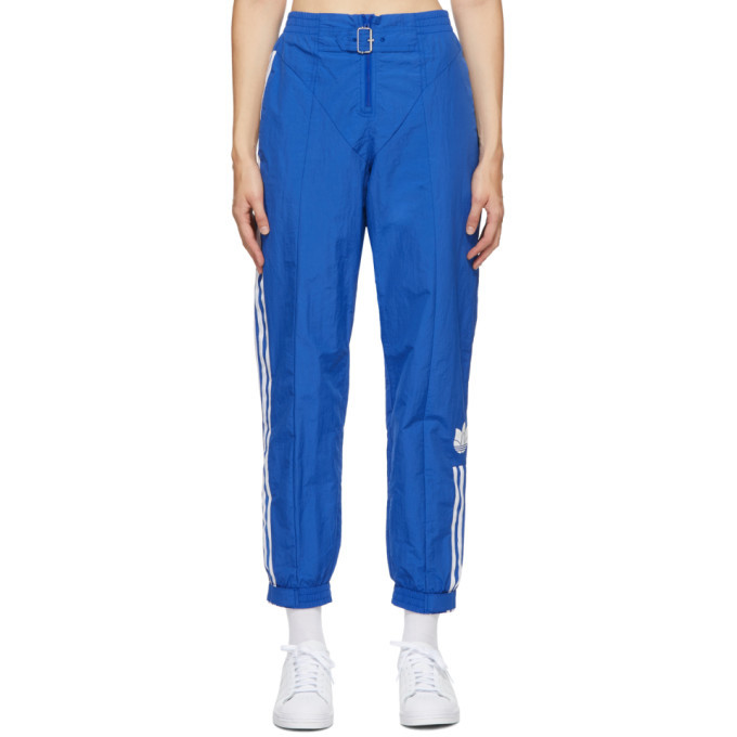 Photo: adidas Originals Blue Paolina Russo Edition Striped Track Pants