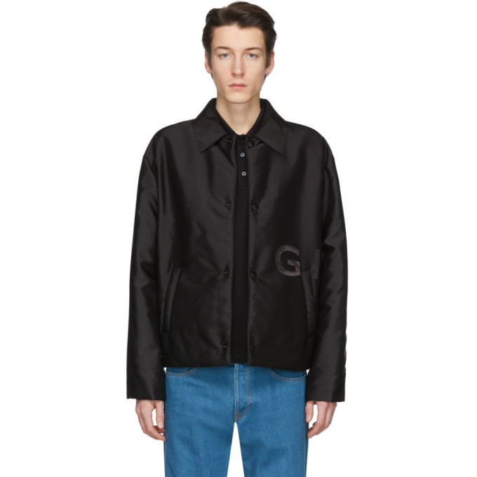 Photo: Givenchy Black Short Padded Coach Jacket
