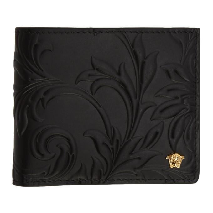 Photo: Versace Black Embossed Medusa Bifold Wallet
