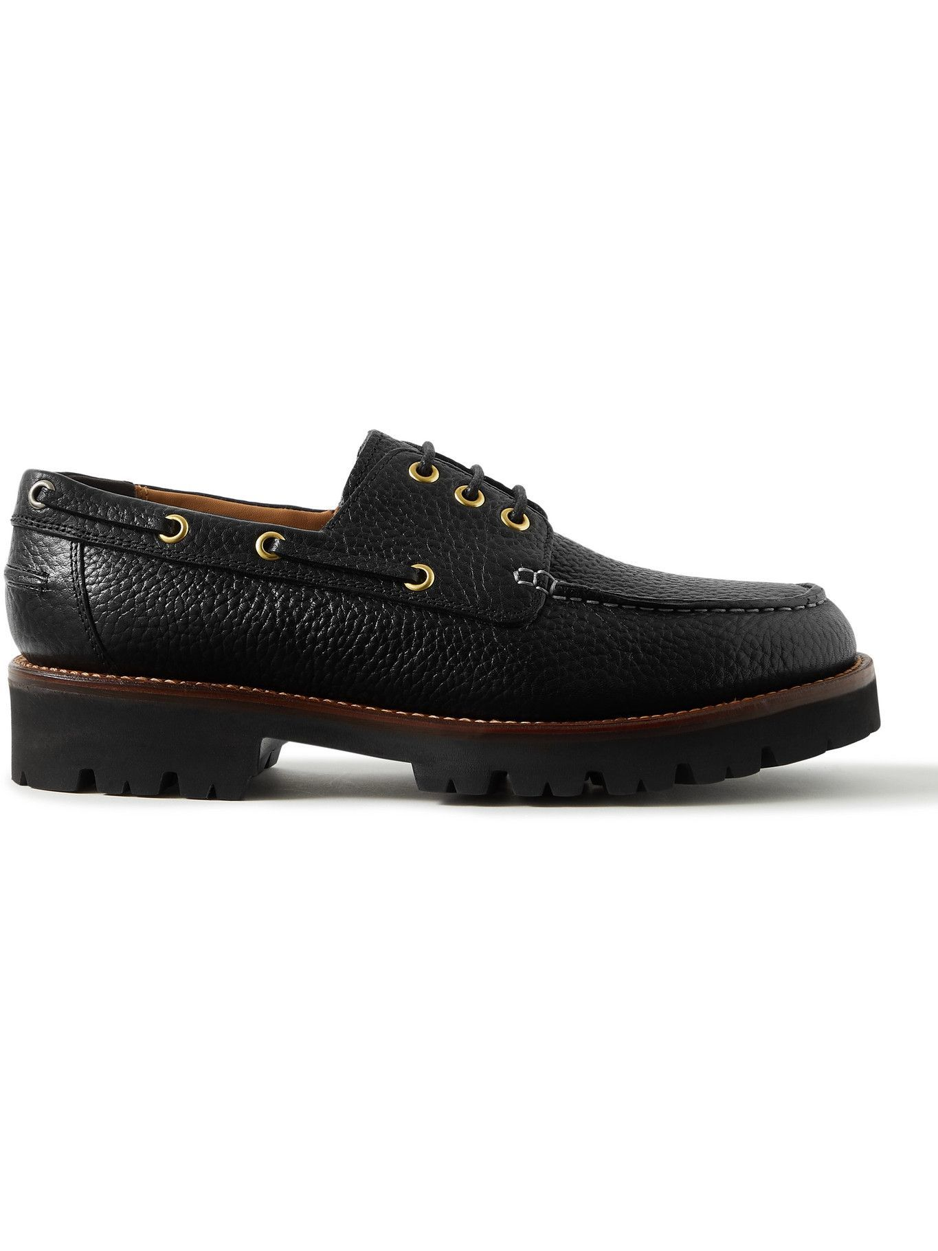 Photo: Grenson - Dempsey Full-Grain Leather Boat Shoes - Black