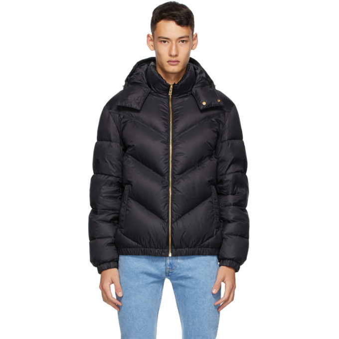 Photo: Versace Black Down Quilted Jacket