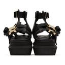 Sacai Black Platform Buckle Sandals