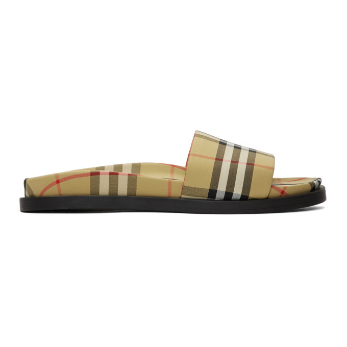 Photo: Burberry Yellow Ashmore Slides