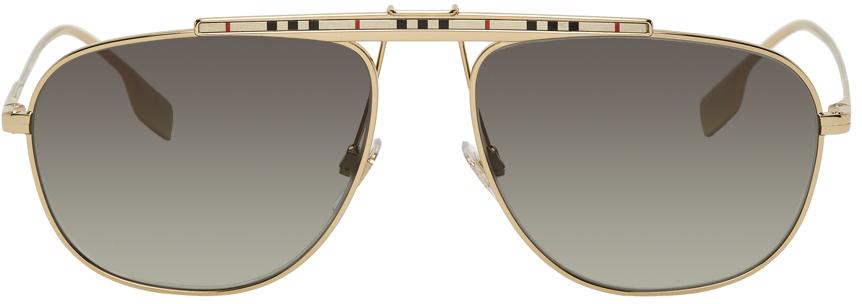 Photo: Burberry Gold Aviator Sunglasses