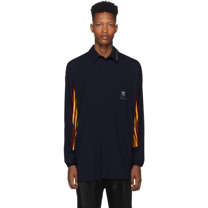 Photo: BED J.W. FORD Navy adidas Originals Edition Game Long Sleeve Shirt Polo