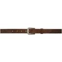 RRL Brown Tumbled Belt