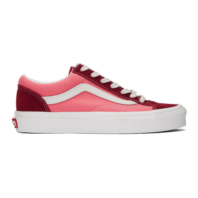 Photo: Vans Pink and Burgundy Style 36 Sneakers