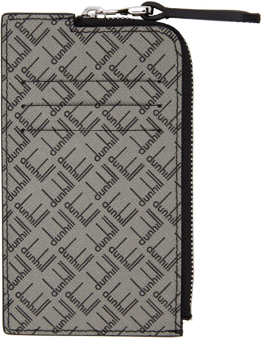 Photo: Dunhill Grey Logo Zip Card Holder