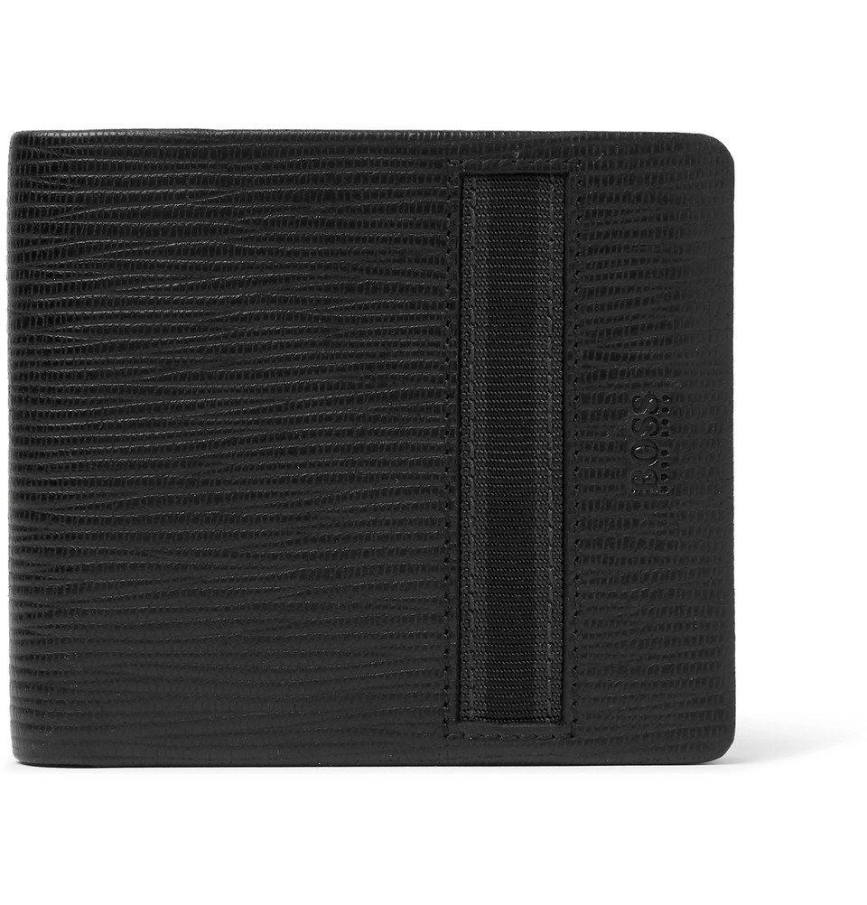 Photo: Hugo Boss - Timeless Cross-Grain Leather Billfold Wallet - Black