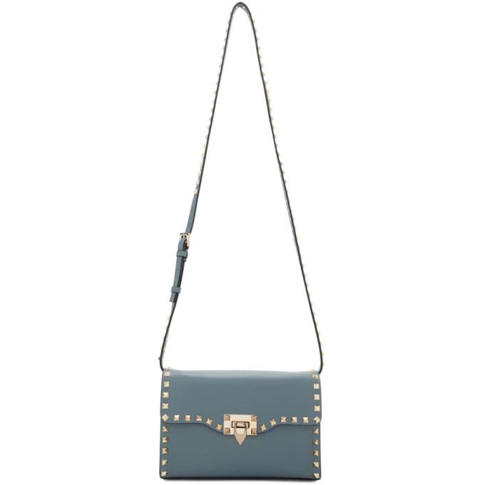 Photo: Valentino Blue Valentino Garavani Small Rockstud Flap Bag