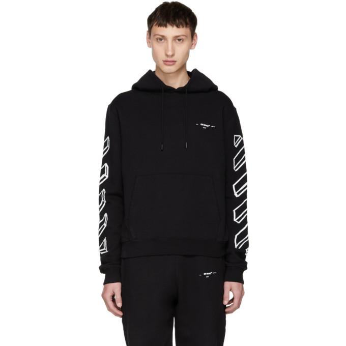 Photo: Off-White Black Diagonal Arrows Logo Hoodie