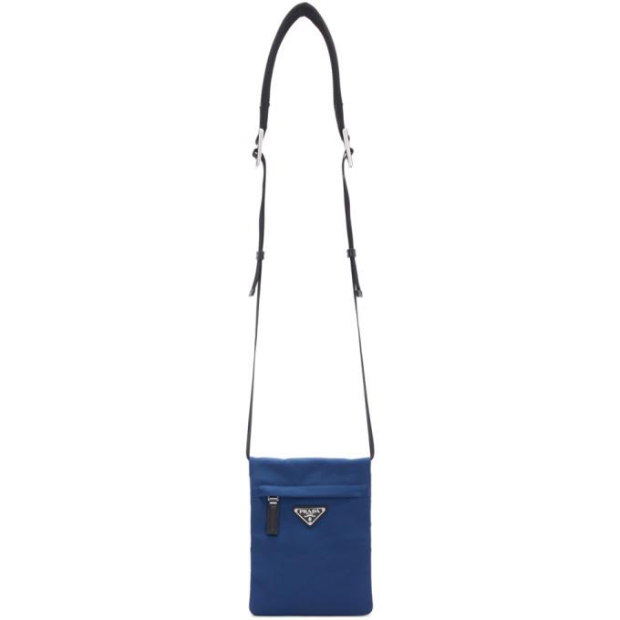 Photo: Prada Blue Nylon Fold-Over Messenger Bag