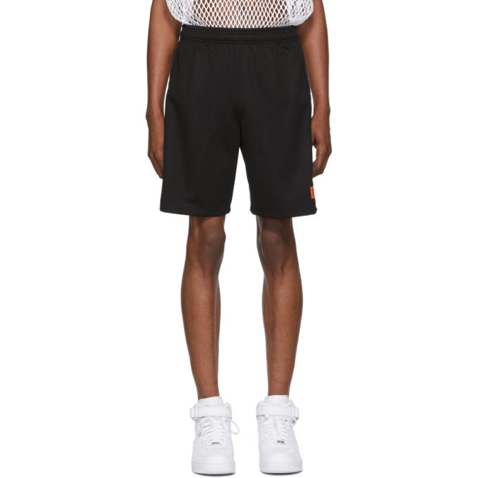 Photo: Heron Preston Black Basket Racing Shorts
