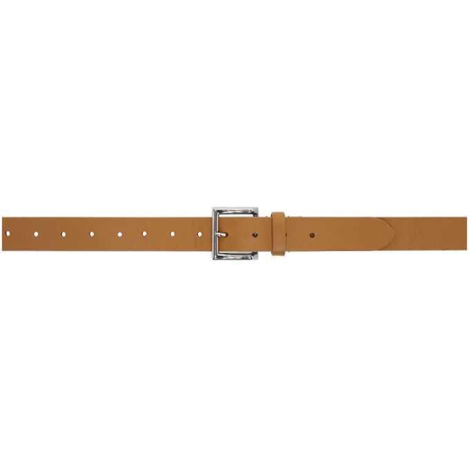 Officine Generale Tan Leather Slim Belt