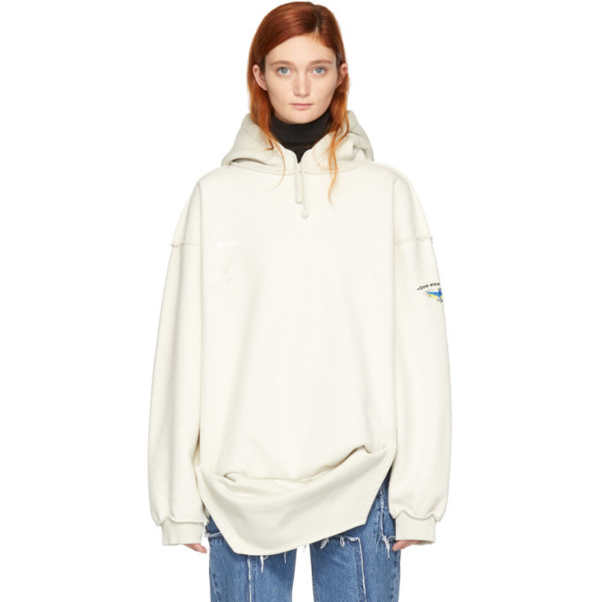 vetements off white inside out shark hoodie vetements