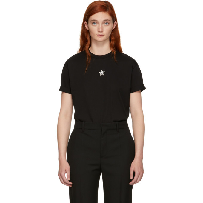Recommend Cheap Black Crystal Mini Star T-Shirt Stella McCartney Outlet Find Great yZxXKn1pKV