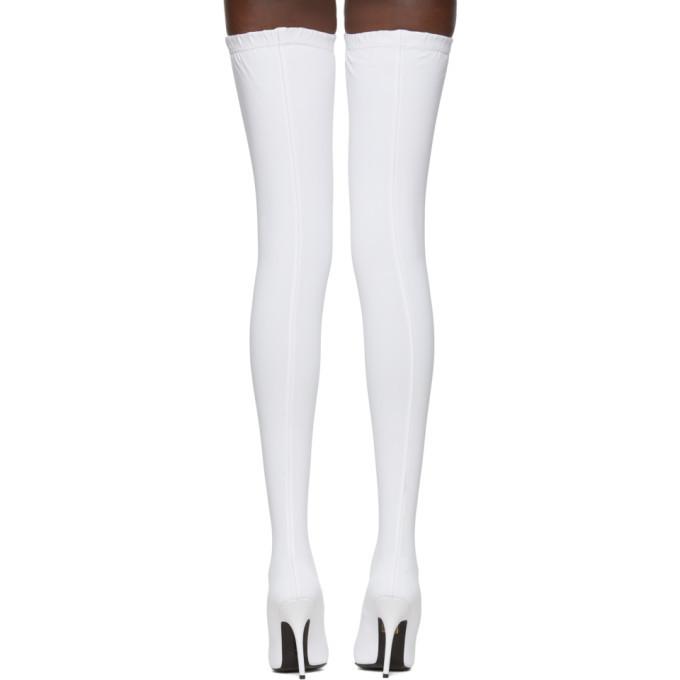 Balenciaga White Sock Thigh-High Boots