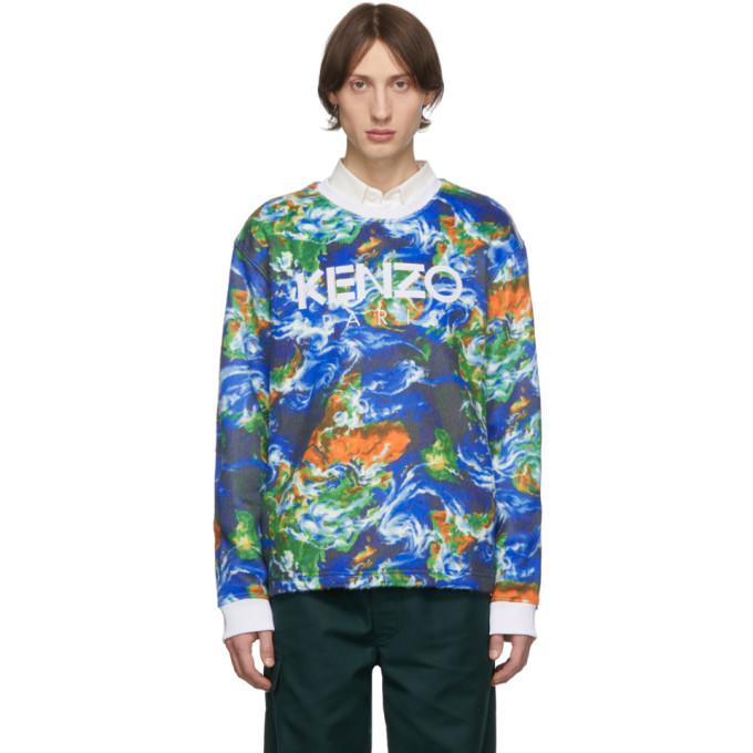 Photo: Kenzo Blue Kenzo World Sweatshirt