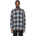Ksubi Black and White Check Stereo Shirt