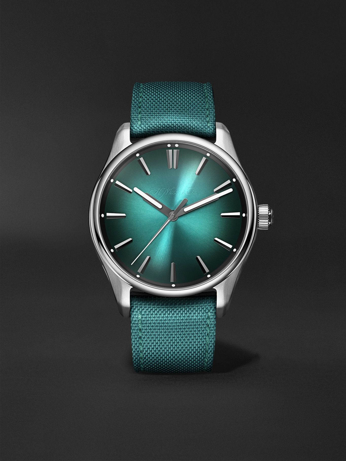 Photo: H. Moser & Cie. - Pioneer Centre Seconds Automatic 42.8mm Stainless Steel and Webbing Watch, Ref. No. 3200-1214
