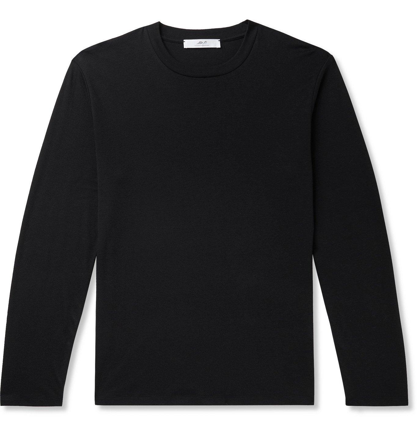 Photo: Mr P. - Cotton and Cashmere-Blend Jersey T-Shirt - Black