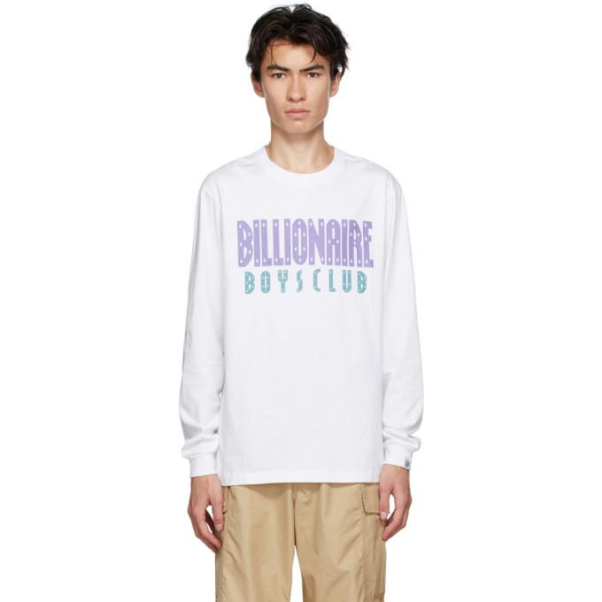 Photo: Billionaire Boys Club White Straight Logo Long Sleeve T-Shirt