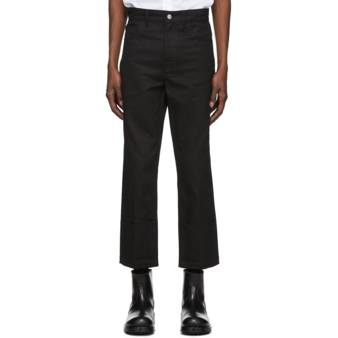 Raf Simons Black Turn Up Jeans