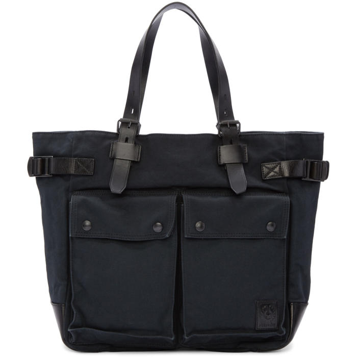 Photo: Belstaff Black Canvas Tote Bag