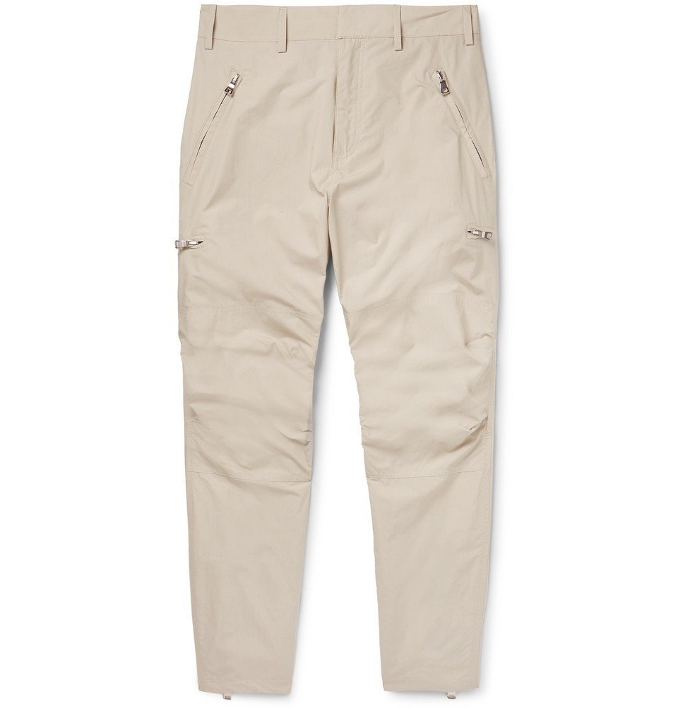 Photo: Balmain - Tapered Cotton Trousers - Beige