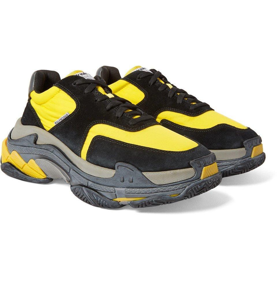 Leather Sneakers - Men - Yellow Balenciaga