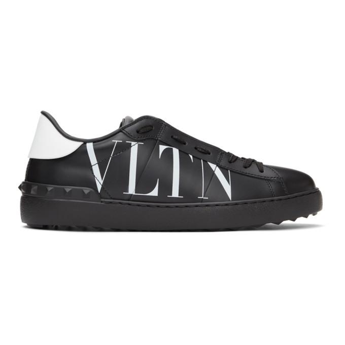 Photo: Valentino Black Valentino Garavani VLTN Open Sneakers