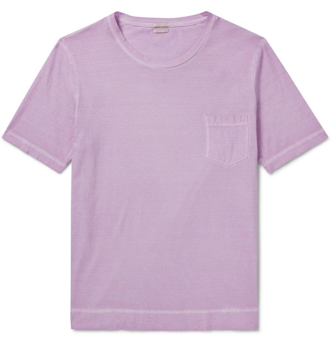 Photo: Massimo Alba - Watercolour-Dyed Cotton-Jersey T-Shirt - Purple