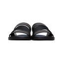 Giorgio Armani Black Leather and Nylon Slide Sandals