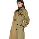 Sacai Beige Melton Cotton Trench Coat
