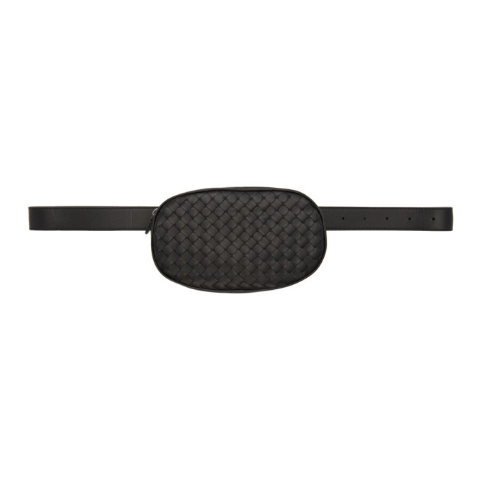 Photo: Bottega Veneta Black Intrecciato Belt Bag
